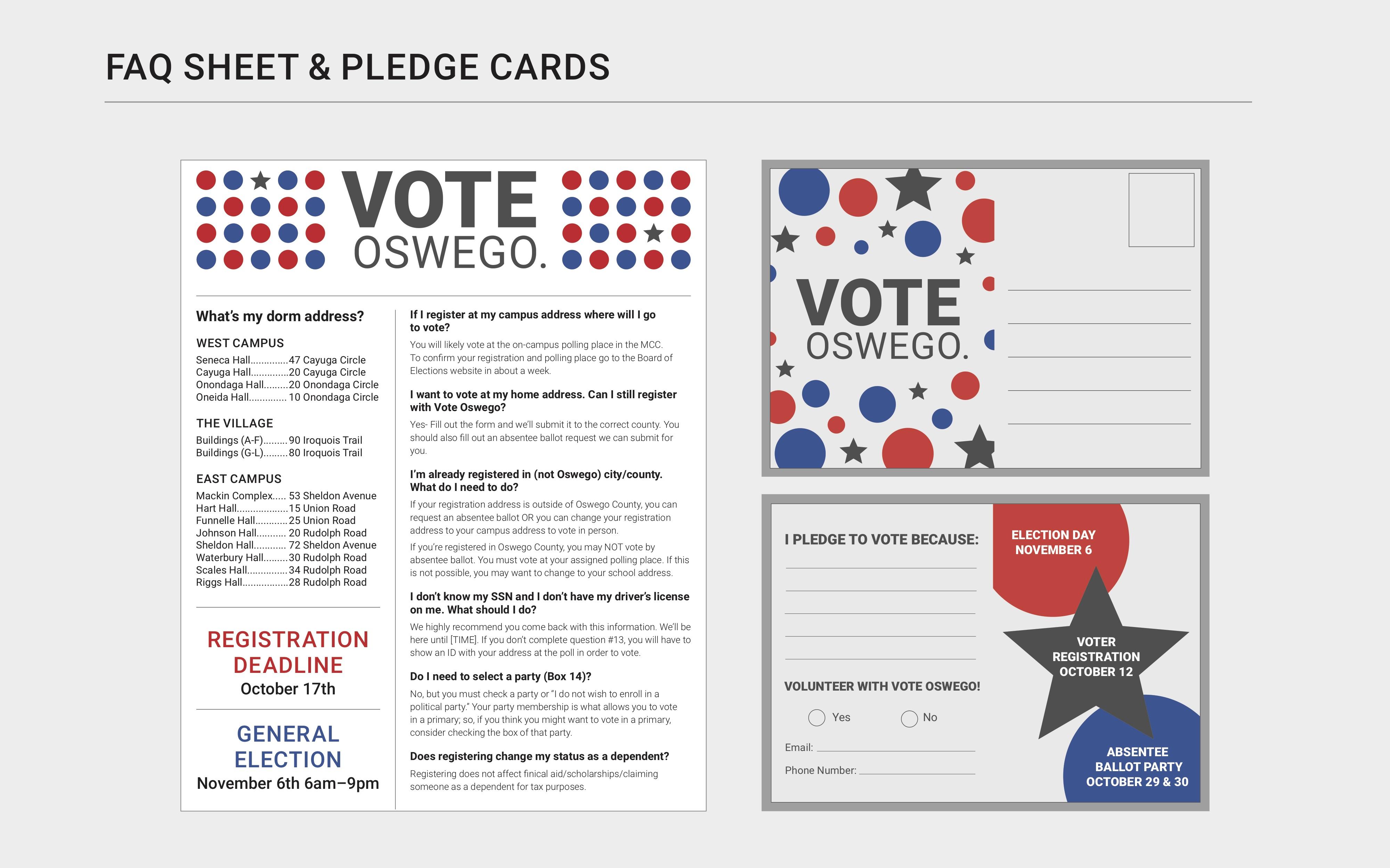 Get Worked Up: Vote Oswego Design strategy, Danielle